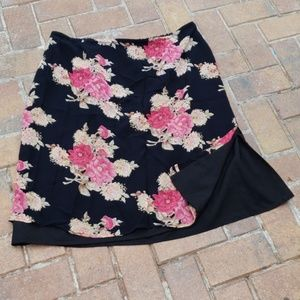 Dress Barn Floral Print Skirt Size 3x